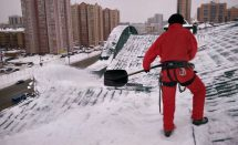 Уборка снега на высоте