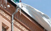 Уборка снега с крыш, очистка кровли